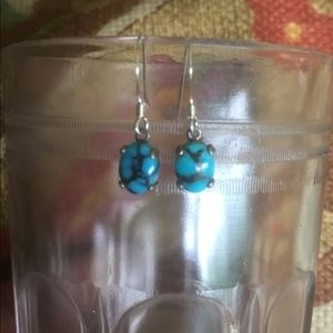 Jewelry - Vintage Turquoise and Sterling Earrings
